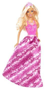 Barbie Fairytale Princess Fashion Doll, Pink and Purple: Toys & Games