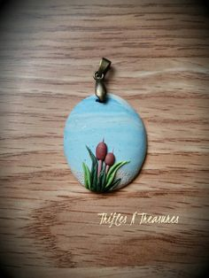 Check out this item in my Etsy shop https://www.etsy.com/listing/271117236/day-at-the-beach-oval-polymer-clay