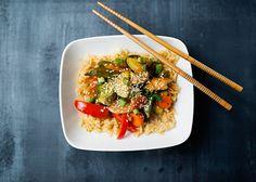 Healthier Orange Chicken and Vegetables