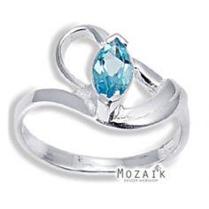 Ezüst Gyűrű Topáz Drágakővel Sterling Silver Ring /w Blue Topaz 4600 HUF