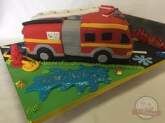 Please visit my page for more photos and videos of this cake. Fondant Cakes, Fire Trucks, Photo And Video, Videos, Photos, Heidelberg, Pictures, Fire Engine, Fire Truck