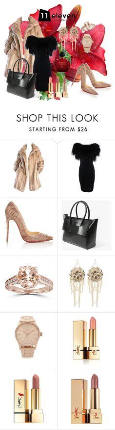 """11Bag"" by merima-musanovic ❤ liked on Polyvore featuring Giambattista Valli, Christian Louboutin, Bebe, Nixon, Yves Saint Laurent, Christian Dior, women's clothing, women's fashion, women and female"