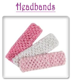 crochet headbands and misc for hair clips