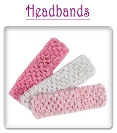 crochet headbands and misc for hair clips