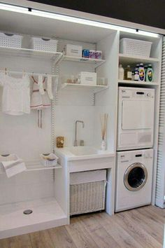 30 Fabulous Laundry Room Decor Ideas You Must Try Small laundry room ideas Laundry room decor Laundry room storage Laundry room shelves Small laundry room makeover Laundry closet ideas And Dryer Store Toilet Saving Laundry Storage, Room Makeover, Room Design, Laundry Mud Room, Interior, Room Organization, Small Laundry Room Organization, Laundry, Room Storage Diy