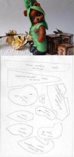 Ambrosial Make a Stuffed Animal Ideas. Fantasting Make a Stuffed Animal Ideas. Felt Animal Patterns, Stuffed Animal Patterns, Doll Patterns, Bear Patterns, Knitted Teddy Bear, Teddy Bears, Sewing Stuffed Animals, Fabric Toys, Plush Pattern