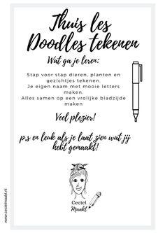 Voor alle moeders en vaders die thuis lesgeven heb ik een boekje 'Doodles tekenen' gemaakt. Dan hoef je niet zelf op zoek te gaan naar leuke teken oefeningen, maar heb je meteen een kant en klare les :). Je kan hem via de link gratis downloaden. #doodles #stapvoorstaptekenen #thuisonderwijs