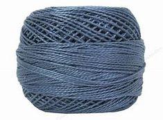 DMC Pearl Cotton Size 8 931 Medium Antique Blue 100% Cotton Drape Cardigan, Scarf Hat, Line Jackets, Pearl, Colours, Jewels, Antiques, Medium, Cotton