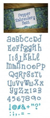 Pepper Embroidery Font Machine Embroidery Designs by JuJu Monograms and Alphabets