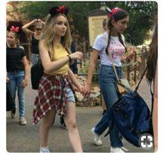 Sabrina Carpenter and Rowan Blanchard at a Disney fair