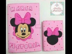 Caderneta da Minnie Parte 1 - Base para caderneta EVA - YouTube Social Projects, Diy Projects, Mickey Drawing, 3d Origami, Foam Crafts, Diy Cards, School Supplies, Minnie Mouse, Scrapbook
