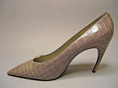 Shoes, Roger Vivier (French, 1913–1998) for the House of Dior (French, founded 1947): 1960, French, leather/metal.