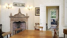 Gothick Fireplace  The Frampton Orangery / Gloucestershire / England / Britain / Special Places / Sawdays - Special Places to Stay