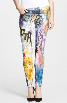 Women's Faith Connexion 'Tag' Print Skinny Jeans