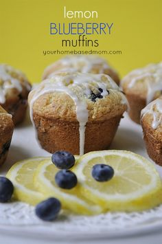 Lemon Blueberry Muffins recipe. Great for breakfast. You can even get them on the go.