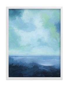 """Rough Seas"" - Art Print by Debra Butler in beautiful frame options and a variety of sizes."