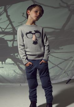 Sweater from No Added Sugar Now on sale at Little Fashion, Kids Fashion, Fashion Outfits, Fashion Trends, Little Man, My Boys, Knitwear, Cool Style, Trousers