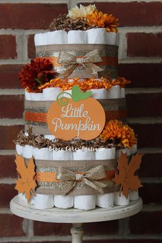 Hey, I found this really awesome Etsy listing at https://www.etsy.com/listing/244097110/3-tier-little-pumpkin-diaper-cake-set