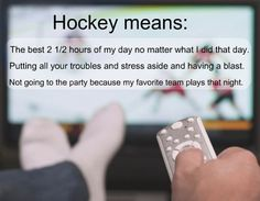 To me hockey means… by:capo-dei-capi