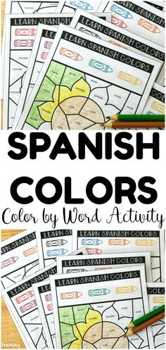 Spanish Color Words Activity for Kids