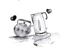 by Caranfinwen  #kettle #teapot #love #tea #objects