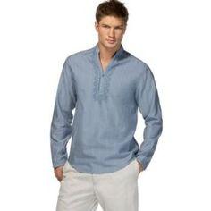 Beach wedding mens shirt