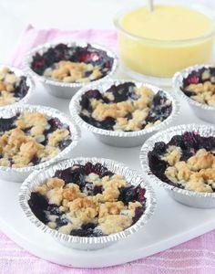 Blåbärspaj i muffinsform