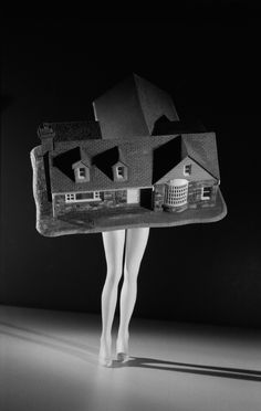 """Laurie Simmons """"Walking House"""" 1989 // The Deconstructive Impulse: Women Artists Reconfigure the Signs of Power, 1973-1991   Contemporary Arts Museum Houston"""