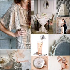 LOVE this color scheme - blush and smoke.
