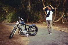 Me and my CB100 chopper bobber