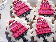 Items similar to Beautiful Custom Cake Cookies 1 dozen on Etsy Fancy Cookies, Sweet Cookies, Valentine Cookies, Iced Cookies, Cute Cookies, Sugar Cookies, Valentines Hearts, Heart Cookies, Sweet Treats