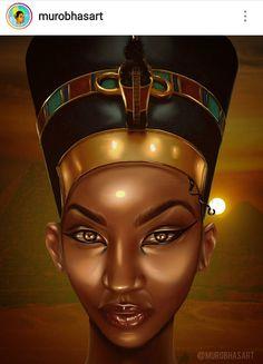 Nefertiti the Real True Nubian Goddess.