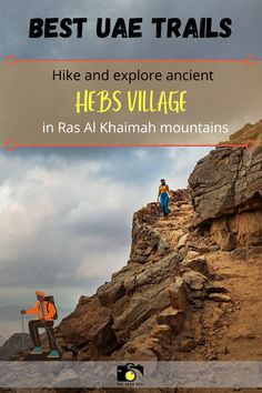 When travelling to the UAE, you should certainly include a hike or two to the magestic Hajar mountains. Here is a guide to one of the most beautiful hikes in the UAE, which is 1.5 hour drive from Dubai. If you are visiting Jebel Jais in Ras Al Khaimah, but want something less explored, then this guide to Hebs village is all you need for your next trip in the UAE. | UAE travel tips | UAE hiking trails #uae #hiking #rasalkhaimah #dubai #uaetravel Ras Al Khaimah, United Arab Emirates, Hiking Trails, Dubai, Travelling, Travel Tips, Explore, Adventure, Mountains
