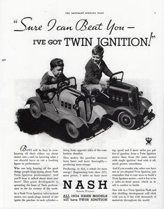 1934 Nash Ad with Pedal Cars | Flickr - Photo Sharing!