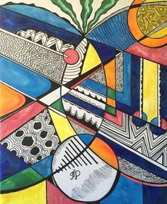 Abstract Painting by Tamara Dikhtyar