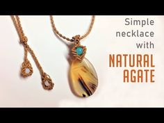 Making simple macrame necklace with a beautiful natural agate - Vòng cổ . Macrame Earrings, Agate Necklace, Pearl Necklace, Diamond Necklaces, Macrame Jewelry Tutorial, Micro Macramé, Macrame Projects, Pearl Pendant, Diamond Pendant