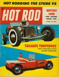 Norm Grabowski's T-Bucket. This is a photo of the Lightning Bug iteration as it appeared when Bob D'Olivio shot it for Hot Rod Magazine in June of Rat Rod Cars, Rat Rods, Car Magazine, Magazine Covers, Traditional Hot Rod, T Bucket, Vintage Magazines, Hot Cars, Custom Cars