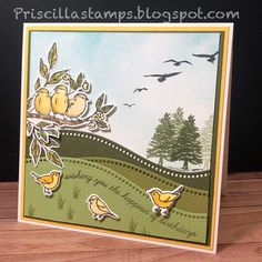 Bird Crafts, Paper Crafts, Interactive Cards, Bird Theme, Christmas Settings, Christmas Cards, Stamping Up Cards, Animal Cards, Fall Cards