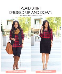 3214b5f67bd0b From Holiday Shopping to a Work Holiday Party. Red Plaid Shirt OutfitBlack  Plaid ShirtBuffalo ...