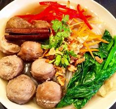 Beef Ball Noodles Soup