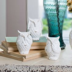 SoHo Dolomite Owl Decoration  ★ Creative Co-Op Home