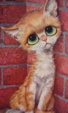 Big Eye Sad Alley Cat by Gig~Image © Franz66 (Etsy)
