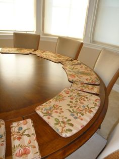 Custom Made Placemats For A Round Table