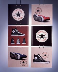 Converse rebrand project that led to the company's sale to Nike. Window Display Retail, Shoe Display, Retail Displays, Window Displays, Store Signage, Retail Signage, Converse Shop, Retail Store Design, Retail Stores