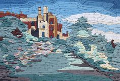 'Berkeley Castle' Mosaic by TomatoJack Arts Unglazed ceramic tiles