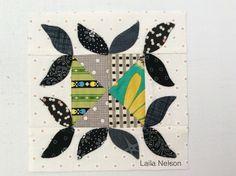 2001 Patchwork Blocks Sampler, Chuck Nohara - block 438 (Laila Nelson)