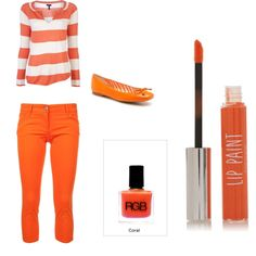 Striped fun in this playful entry for the Orange You Glad? fashion mission