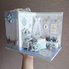 2018.03 Miniature Baby Roombox Dollhouse ♡ ♡ By ruzana ru