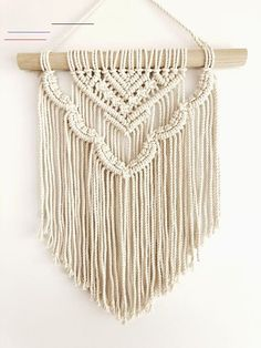 Most current Absolutely Free Macrame diy wall hanging Strategies Macrame Wall Hanging Esther Scalloped layered modern Makramee Etsy Macrame, Macrame Art, Macrame Design, Macrame Projects, Macrame Knots, Macrame Modern, Crochet Projects, Macrame Mirror, Macrame Curtain