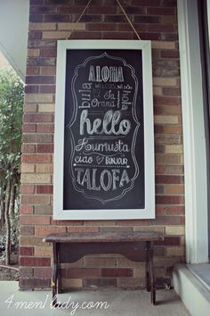 I want a giant chalkboard frame!